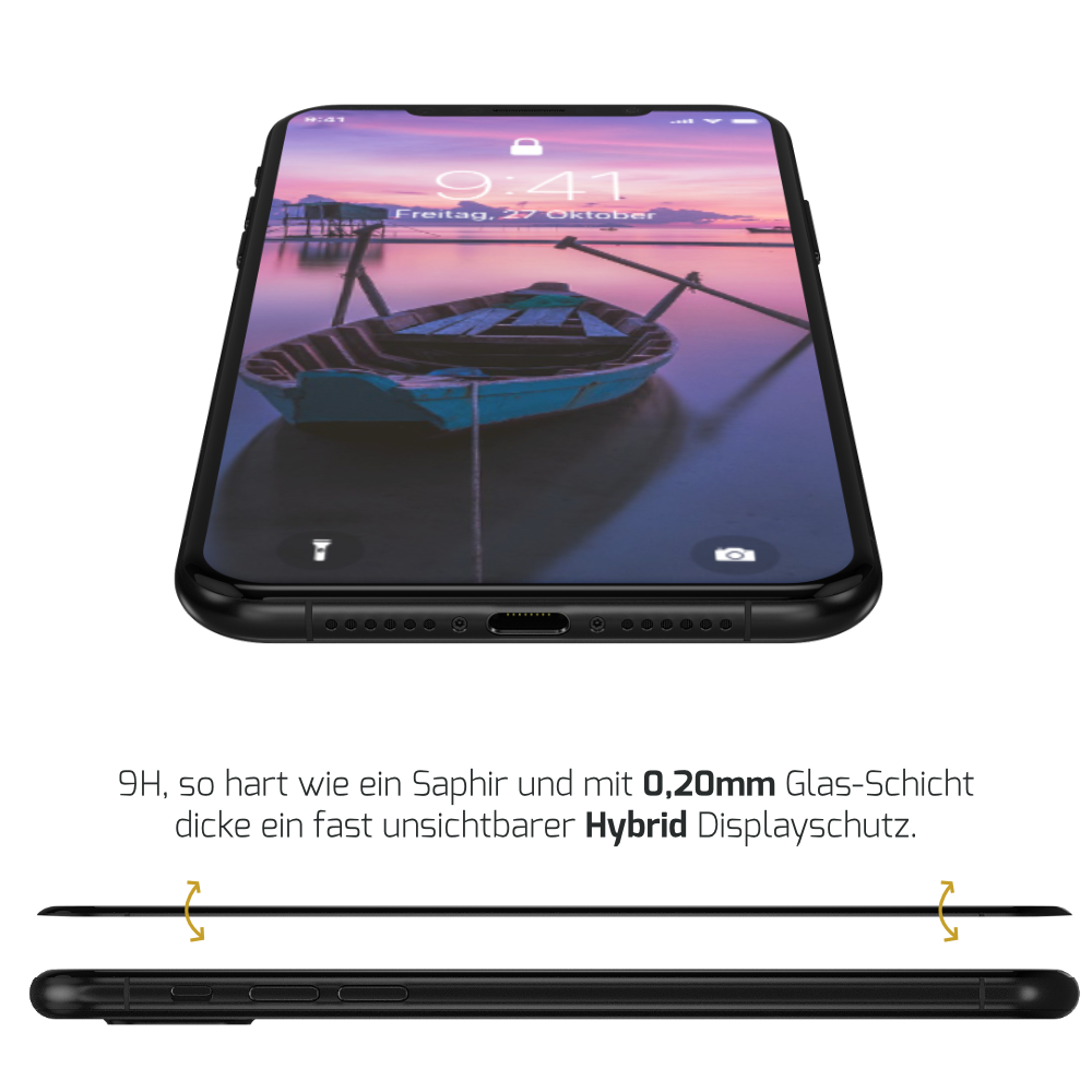 iPhone XS Displayschutz Hybrid