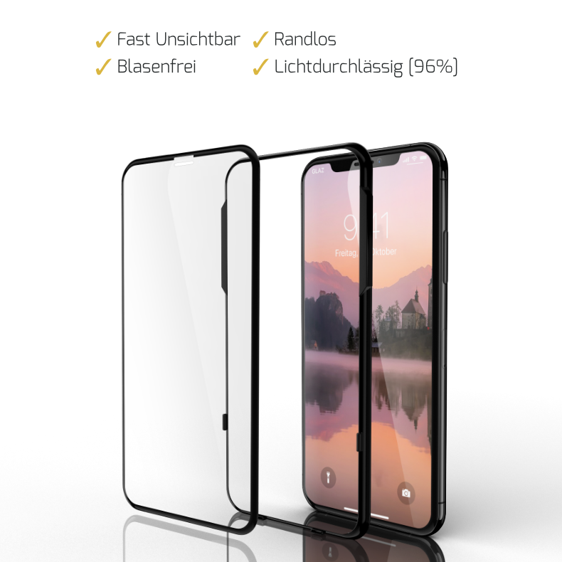 iPhone XS Panzerglas Schutzfolie