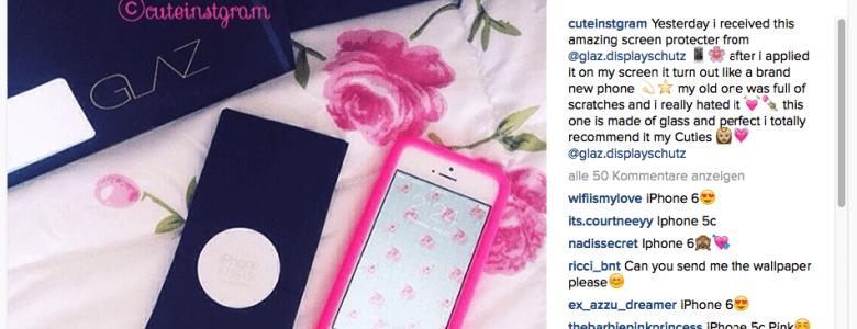 iPhone Schutzfolie – Schutz für deine zarte Rose
