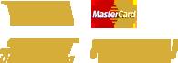 Die Logos der verschiedenen Bezahlmöglichkeiten im Shop von GLAZ