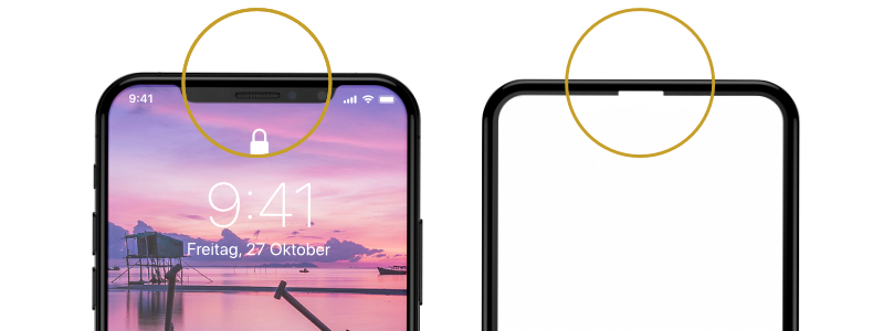 iPhone X Panzerglas Clear Notch