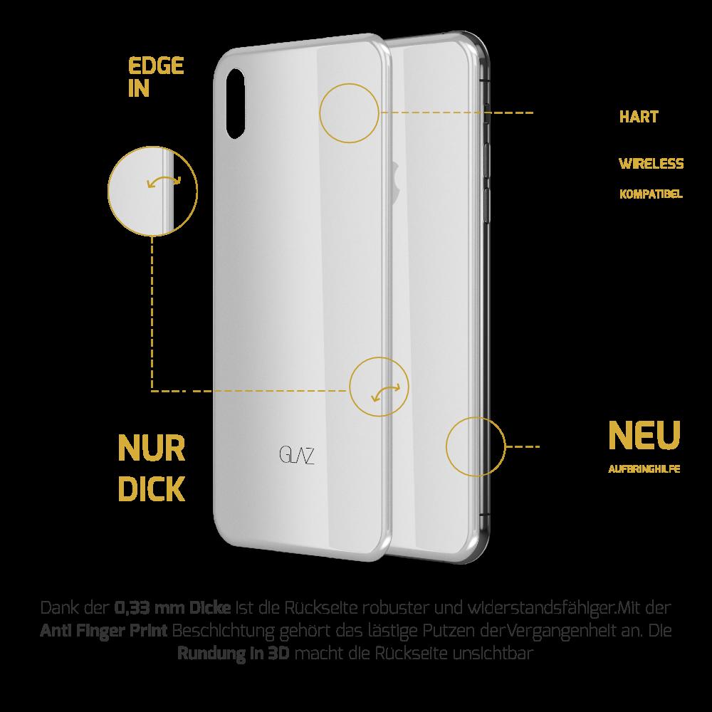 iPhone X Panzerglas Rückseite