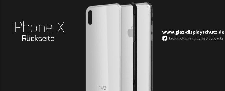iPhone X Rückseite Panzerglas