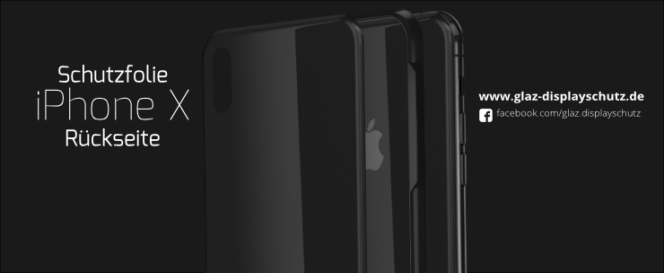 Schutzfolie iPhone X Rückseite