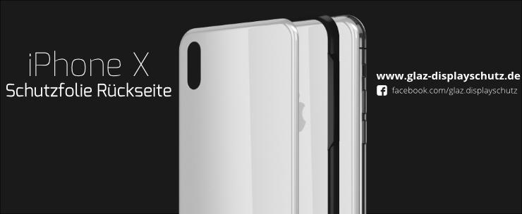 iPhone X Schutzfolie Rückseite