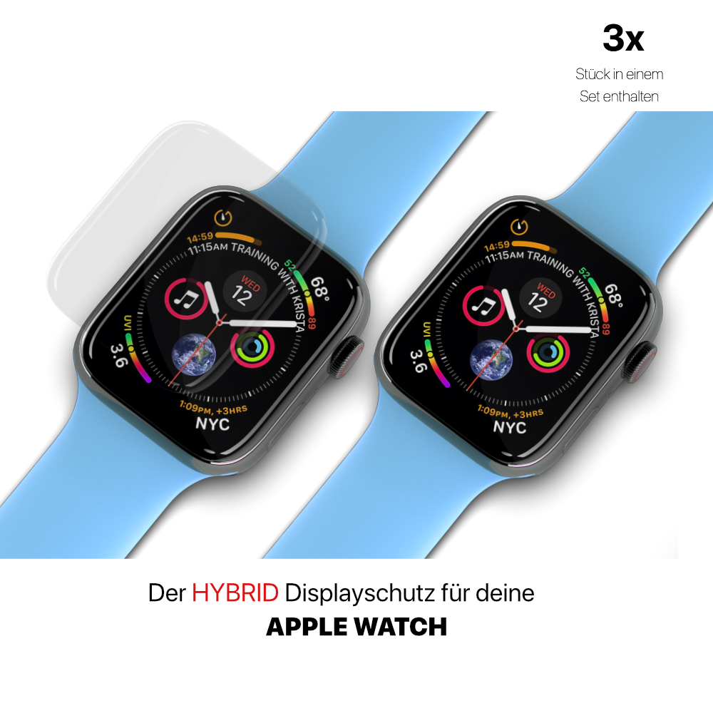 Apple Watch Panzerglasfolie Hybrid