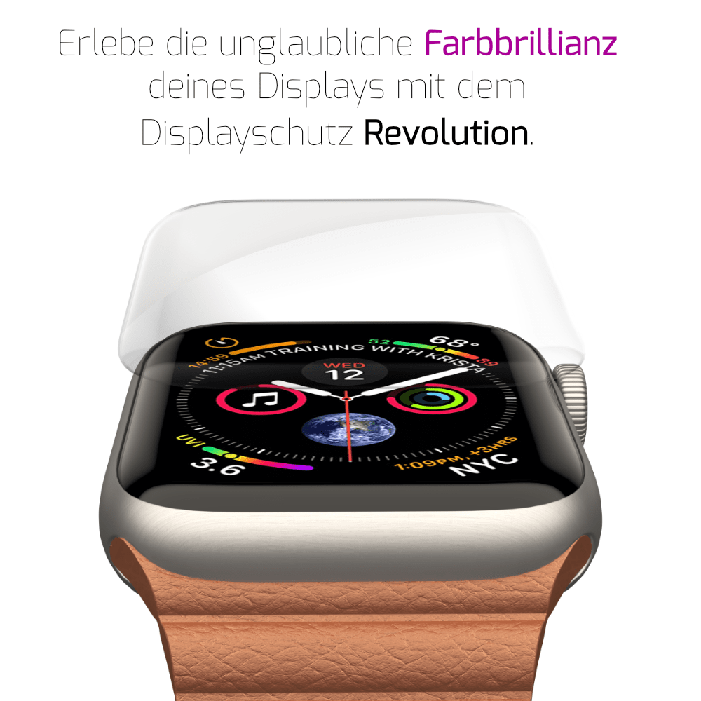 GLAZ Apple Watch Displayschutz 2.0 4D Revolution