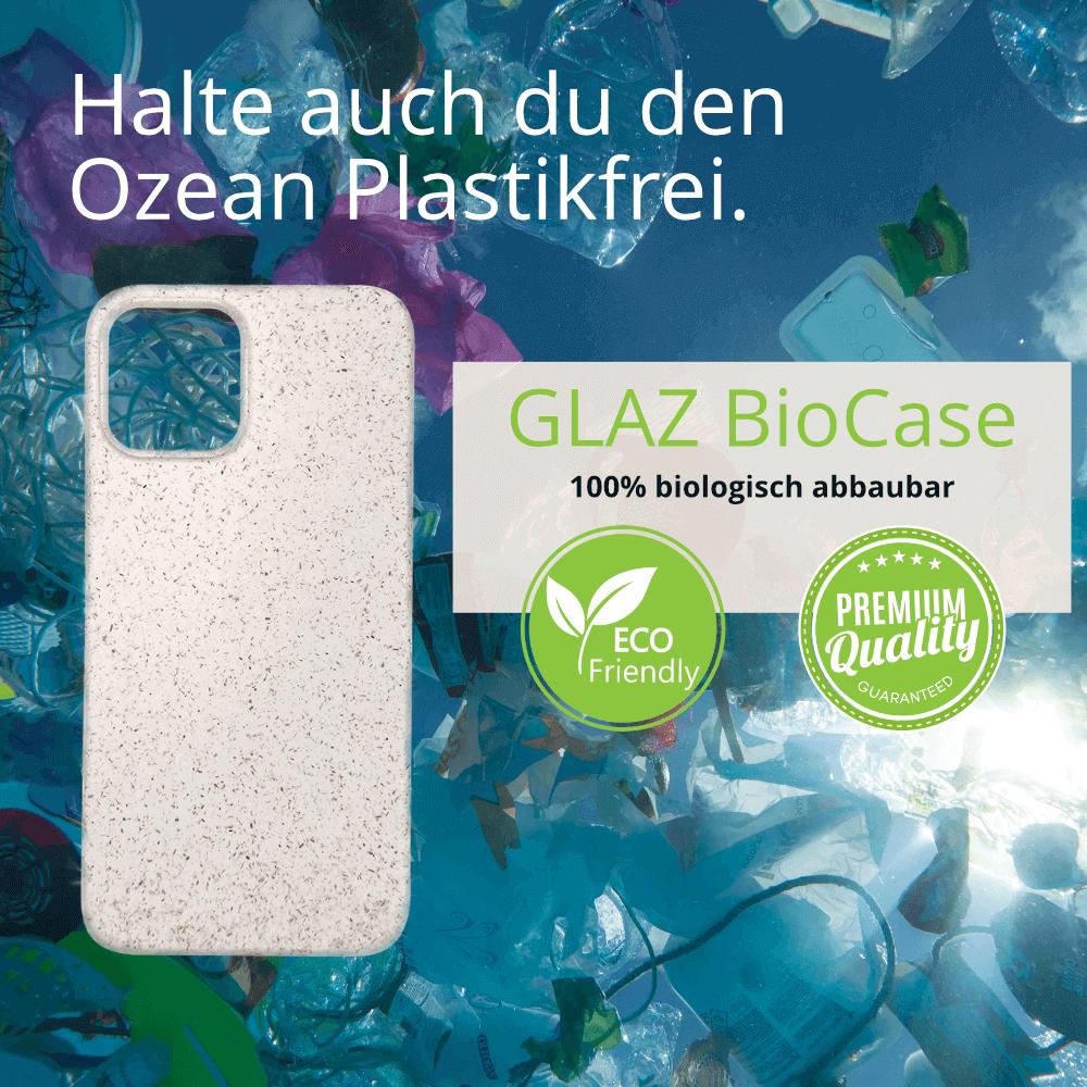 Schütze unsere Meere, wähle das GLAZ Bio Case ohne Plastik