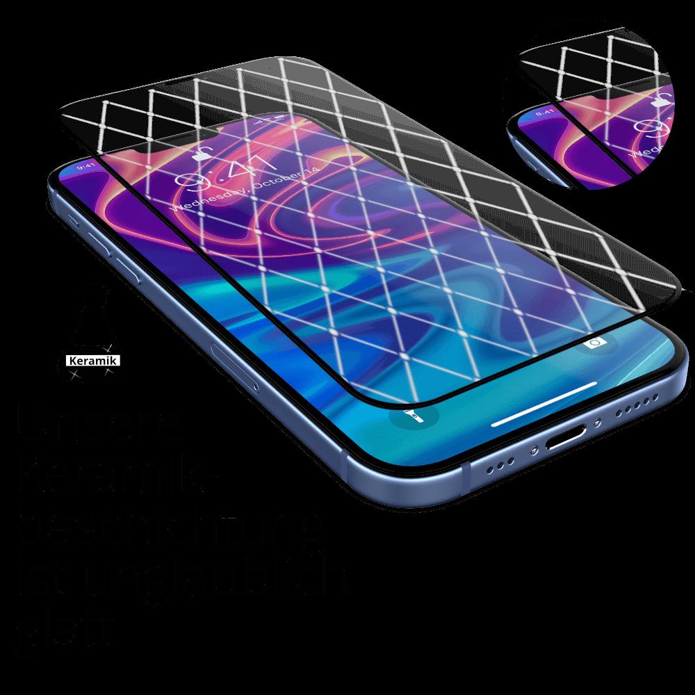 iPhone 12 mini Panzerglas mit Keramikoberflächenbeschichtung